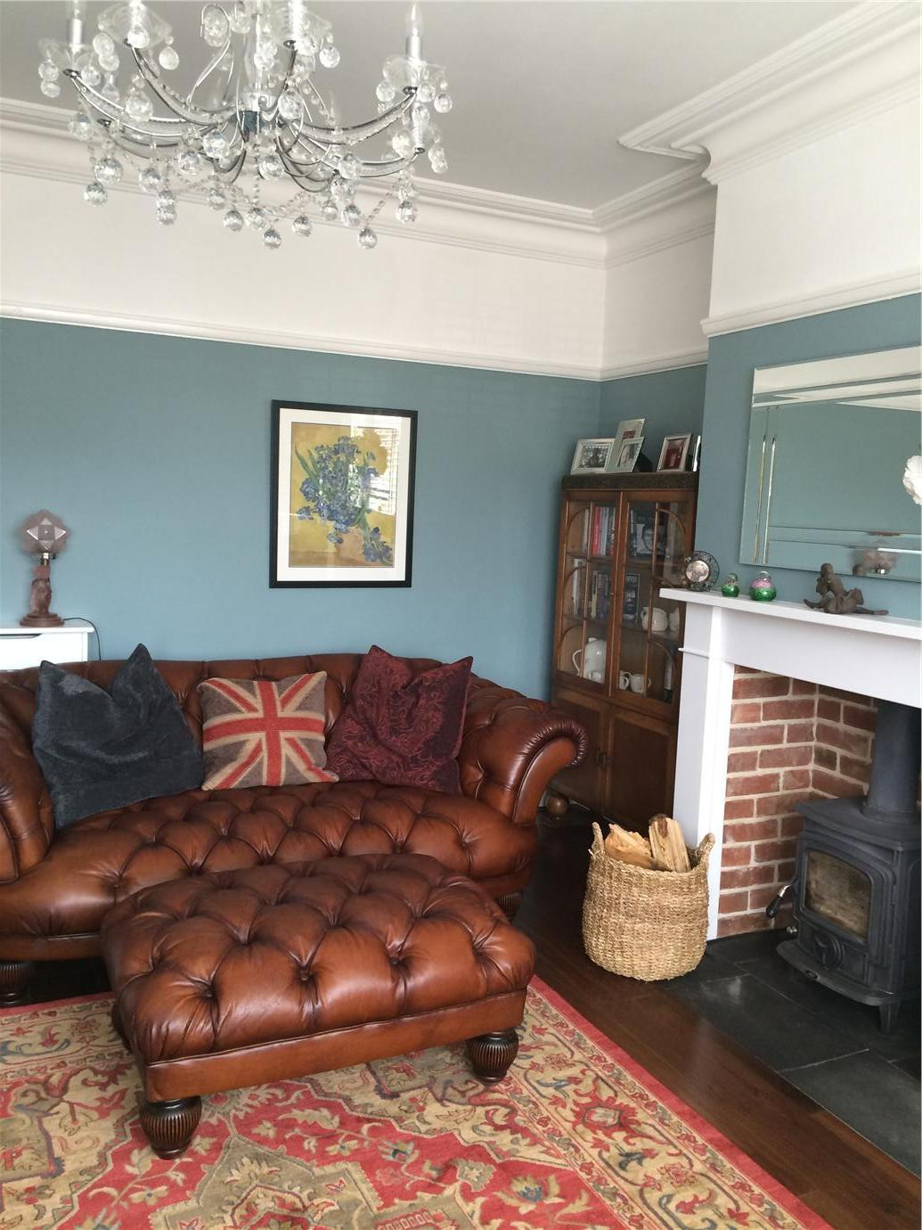 Light Blue Farrow And Ball Living Room