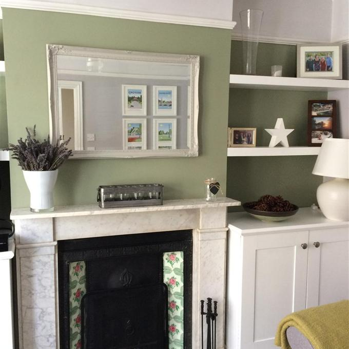 Farrow Ball Mizzle Walls In Our Dining Room: Lichen