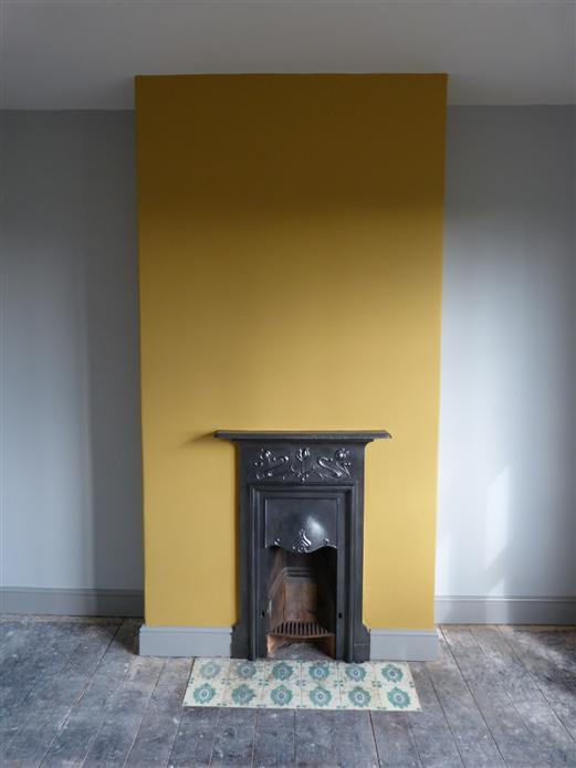 India Yellow Feature Wall