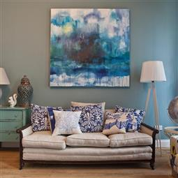 Living Room In Stone Blue And Wimborne White