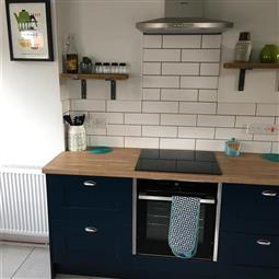 Kitchen With Hague Blue Units