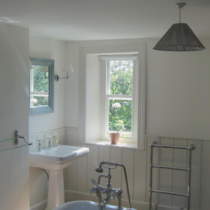 Timeless Kitchen With Old White Farrow And Ball On The: Light Blue