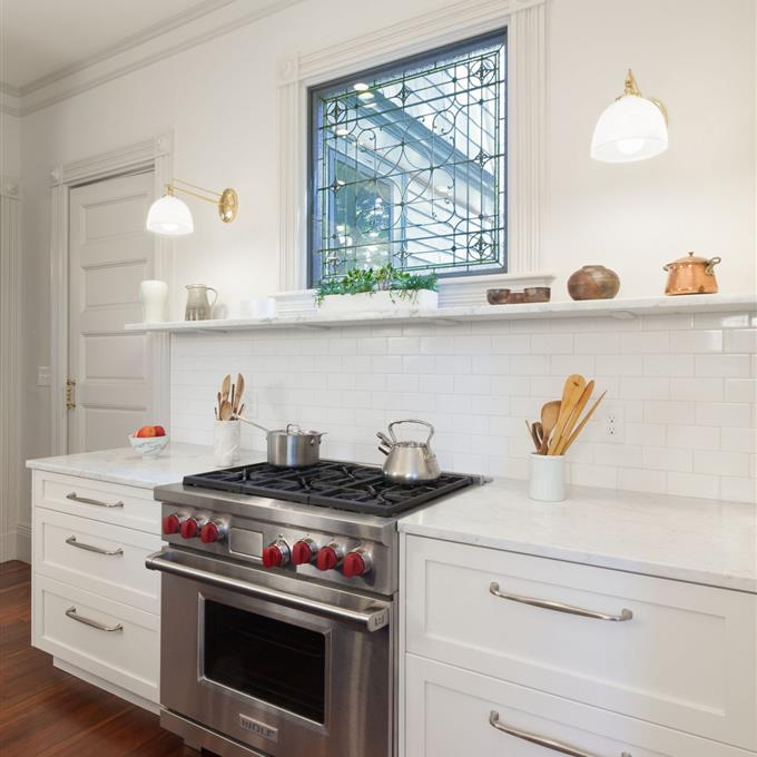 Timeless Kitchen With Old White Farrow And Ball On The: Wimborne White