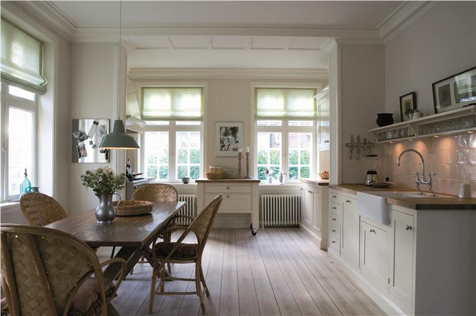 Keukendeur Grepen : Farrow and Ball White Kitchen