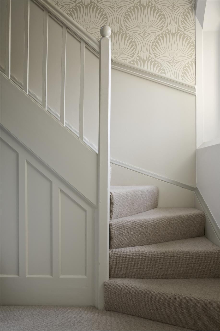 Hall Stairs In Lotus Wimborne White Slipper Satin Contributed By Farrow Ball