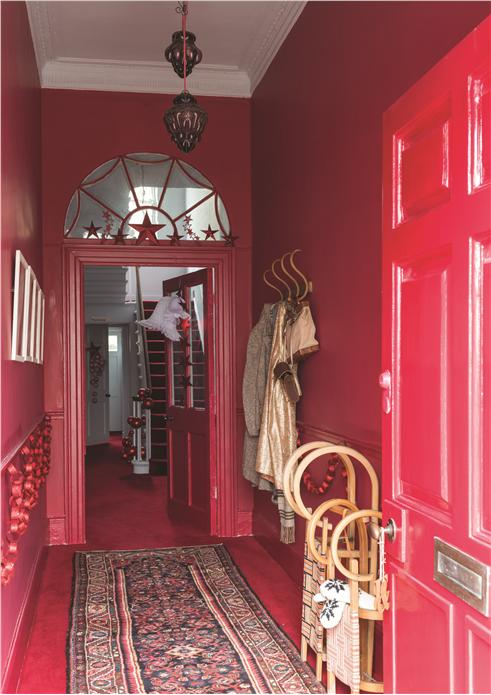 HALLWAY IN RECTORY RED